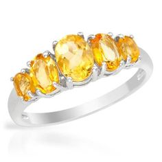 Nice Ring With Citrines - Size 7 Size Nice ring with genuine citrines in 925 sterling silver. Total item weight Gemstone info: 4 citrines, with oval shape and yellow color, 1 citrine, with oval shape and yellow color Stone Jewelry, Jewelry Art, Vintage Jewelry, Nice Jewelry, Bridal Accessories, Jewelry Accessories, Royal Crown Jewels, Jewelery, Bulgari Jewelry