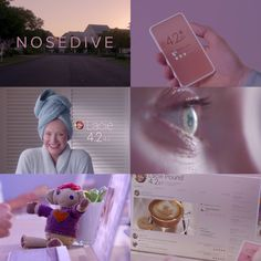 Nosedive Black Mirror aesthetic inspiration for Super Suite Black Mirror Show, Best Series, Tv Series, Bryce Dallas Howard, Mood And Tone, Dating Apps, Class Projects, Just Friends, Character Aesthetic