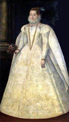 Mary Stuart, Queen of France and Scotland in her wedding dress, 1565