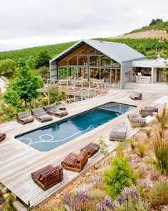 ...---===  ===---... Outdoor Pool, Wood Terrace, Restaurant, Old Mac Daddy, Luxury Trailer Park in South Africa