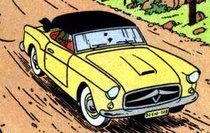 Tintin Bordurian car • Tintin, Hergé