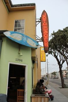 Plan The Perfect Cool-Kid Day Trip To The Outer Sunset #refinery29  http://www.refinery29.com/outer-sunset-guide-san-francisco#slide-8  Java Beach Cafe  Load up on carbs and coffee before or after watching the waves at this long-standing shop (est. 1993) that sits right across from the ocean. Another husband-and-wife-run organization, this super-casual restaurant and coffee shop has a jam-packed menu which includes ocean-themed sammies like the Tsunami (ham, mortadella, salami, and melted…