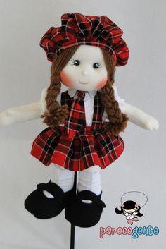 Boneca De Pano Julia 40 Cm