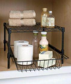 Under Cabinet Storage Rack Bathroom Toiletries Storage Shelf Drawer Space Saver