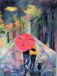 Carmen Alicia Navarro Paseando por NY .80 x .60  Técnica Mixta Painting, Art, Painting Art, Paintings, Painted Canvas, Drawings