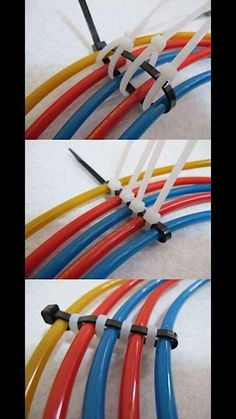 Clever and inexpensive way to organize cables