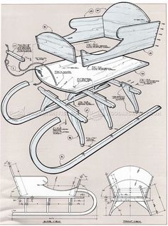 Vivtorian Wooden Sled Plan - Children's Outdoor Plans