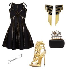 Grammys by stylebyanrenik on Polyvore featuring polyvore, fashion, style, Giuseppe Zanotti, Alexander McQueen, Erté and clothing