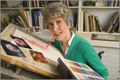 Joni Eareckson Tada, a quadriplegic who became a Christian after her swimming accident, travels the world helping others.