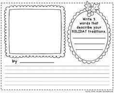 Printable by First Grade Schoolhouse. Thanksgiving and Christmas Class Book Covers and printables. FREE!!! download.      http://www.firstgradeschoolhouse.blogspot.com