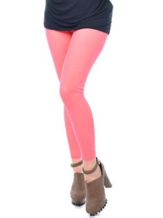 This pair of ankle length leggings is #made in a bright pink color. It's stretchy and comfortable because of the polyester cotton material. A very unique piece t...