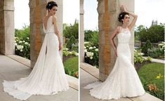 Elegant+Bateau+V-back+Mermaid+Lace+Wedding+Gown.jpg (1470×900)