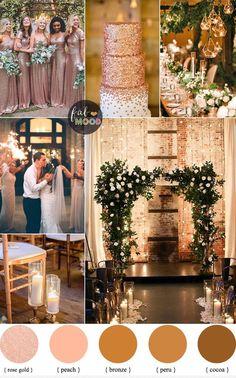 Rose gold wedding colour for industrial wedding,Warehouse wedding ideas ,rose gold bridesmaid dresses #WeddingIdeasGold