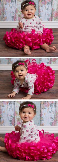 Pink party tutu, girls birthday party, ribbon tutu, floral birthday party outfit Pink and Gold Birthday Party Girl Fashion, Fashion Outfits, Trendy Fashion, Fashion Kids, Girls Dresses, Flower Girl Dresses, Wrap Dresses, Luanna, Pink Tutu