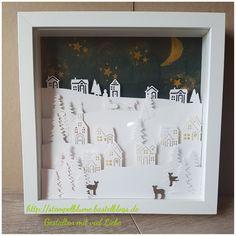 Nummero 4...😉 Ribba Rahmen winterlich gearbeitet mit dem Winterstädchen. Ich liebe sie...