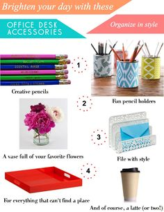 office desk accessories.. Those pencil holders!