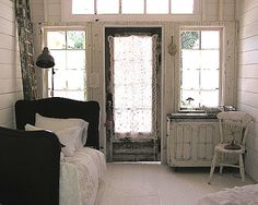 CUTE PINK STUFF ... and more-fabulous room addition made from old bits and pieces--love it