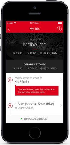 Qantas upgrades iPhone app, now 'full service travel companion' - Australian Business Traveller