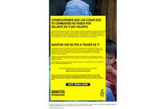 Trabajo que hicimos para Amnistia Internacional