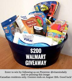$200 Walmart Giveaway @vitamindaily
