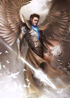 Collection of fan art images of angelic warriors and warrior angels. Both male and female angel champions that serves to god and protect humanity. All the images are just great. Female archangel wa…