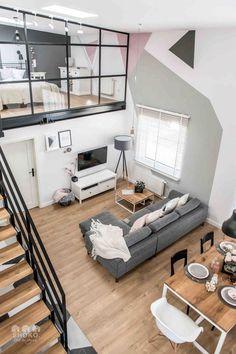 Siempre me han encantado estos tipos de lofts para una casa de soltera o con pareja, la idea de tener un espacio amplio y a la vez reducido... #infografias #infographic