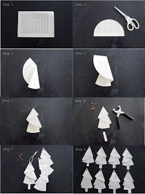 Anleitung für die Bäumchen aus alten Buchseiten… Tutorial… – HANDMADE Kultur And I fold and fold …. Instructions for the trees from old book pages … Tutorial … – HANDMADE culture … Noel Christmas, Christmas Crafts For Kids, Simple Christmas, Holiday Crafts, Origami Christmas Tree, Paper Christmas Ornaments, Navidad Simple, Navidad Diy, 242