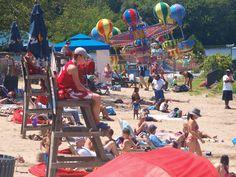 Quassy Beach at Quassy Amusement & Waterpark Amusement Park, Roller Coaster, Beach, Beautiful, Seaside, Roller Coasters