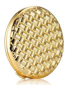 Est& Lauder Golden Weave Powder Compact - No Color Solid Perfume, Color Powder, Face Powder, Estee Lauder, Beauty Make Up, Basket Weaving, Neiman Marcus, Compact, Luxury Fashion