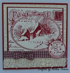Stampendous - Snowy Postcard