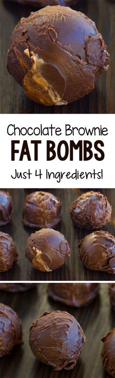 Keto Chocolate Brownie Fat Bombs, with no sugar and no coconut oil Ingredients - 1 cup nut butter of choice, or allergy friendly - cup cocoa powder - tbsp sweetener of choice, or as desired tsp salt optional mini chocolate chips optional 2 tbsp coconut o Keto Desserts, Keto Snacks, Dessert Recipes, Keto Foods, Easy Snacks, Dessert Ig Bas, Dessert Oreo, Fruit Dessert, Dessert Chocolate