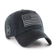 deb79b2d96bf8 Operation Hat Trick Clean Up Black 47 Brand Adjustable USA Flag Hat