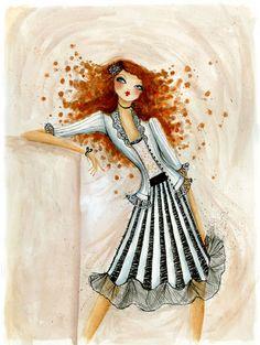 Bee Magazine  'Wear It Well' fashion trend story based around fashion runway themes, Bella Pilar, portfolio, illustration, , contact info, slideshow