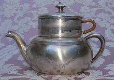 Antique Very Unusual Old Apollo E P B M Silver Teapot Vintage Silver Plate | eBay