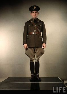 a US Army Cavalry Officer in service uniform.  www.blackenwolf.com .... Military LED Logo Lights