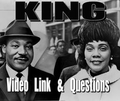 Free! This 21 minute documentary is still the best MLK/civil rights video for middle and high school students Ive seen. It's short and to the point, yet powerful. This is not your typical documentary. Information is conveyed only by sound bites of King himself and through short onscreen titles. Video link, video guide and key is included in this package.