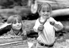 """That would be the story of Mary-Kate and Ashley Olsen, the twins who became stars as babies on """"Full House"""" when they starred as young daughter Michelle Tanner. Mary Kate Ashley, Mary Kate Olsen, Olsen Twins Full House, Michelle Tanner, Olsen Sister, Twin Photos, It Takes Two, Book People, 90s Nostalgia"""