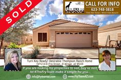 """SOLD! """"Turn Key Ready! Desirable Thompson Ranch Home""""  *  If you are looking for properties to sell, buy or to rent, let """"The Fry Team"""" make it simple for you. CALL 623-748-3818 or visit www.FryTeamAZ.com for more info.  *  #SOLD #Residential #HomeForSale #ElFrioStreet #ElMirage #AZ #RealEstate #TheFryTeam #HomeBuying #HomeSelling #WestUSARealty"""