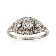 C. 2000 Vintage 1.75 ct. t.w. Diamond Ring in Platinum. Size 8.5