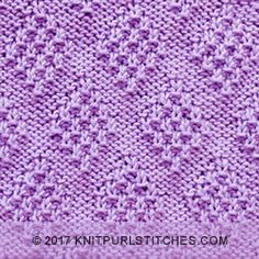 The Moss Diamond stitch is my new favourite stitch. The Moss Diamond stitch is my new favourite stitch. It's so much fun to kn Knitted Dishcloth Patterns Free, Knitting Squares, Loom Knitting Stitches, Beginner Knitting Patterns, Dishcloth Knitting Patterns, Knitting Charts, Free Knitting, Charity Knitting, How To Purl Knit