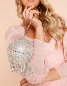 Buy ASOS DESIGN Luxe diamante fringe sphere bag at ASOS. With free delivery and return options (Ts&Cs apply), online shopping has never been so easy. Get the latest trends with ASOS now. Latest Fashion Clothes, Fashion Online, Sequin Jumpsuit, Next Clothes, Platform Stilettos, Asos Online Shopping, Hair Ties, Party Wear, Crochet Bikini