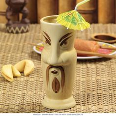 Fu Man Chu Hawaiian Tiki Mug   Tiki Bar Decor   RetroPlanet.com Make a retro statement with your decor, while treating your guests to a restaurant style experience with drinkware like this Fu Man Chu Mug. These mugs are handmade, making each piece unique. Subtle imperfections and differences in color or glaze may occur.