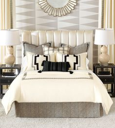 old hollywood bedroom Bedroom Modern with black and white classic                                                                                                                                                                                 More