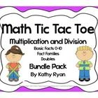 Your students will love practicing their multiplication and division facts while playing Tic Tac Toe.     This pack includes 16 pages with 6 game boards. $$ Priced Item