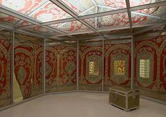 This Ottoman tent given to Catherine the Great from the Hermitage Museum is meant to be a centrepiece of Lacma's Gifts of the Sultan show (Photo: Hermitage Museum)
