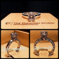 I absolutely love this classic meets vintage design that I just finished. This design was made with a .80ct round cut diamond. The centre diamond sits on a vintage leaf head. The plain shank on the top features beautiful vintage work all around the gallery. You all love this mashup? This is what I do. #diamond #diamonds #wedding #weddings #engagement #ring #rings #bride #brides #jewellery #jewelry #vintage #thediamondstudio #diamondboi