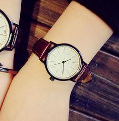 2016 Unisex Leather Strap Watches Men Luxury Brand Men Watch For Lovers Black White Lady Quartz Women Dress Watch