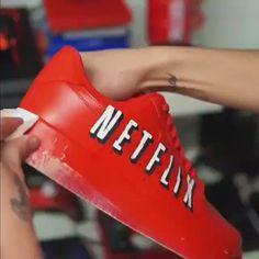 Behind The Scenes By yzsneakers Sneaker Plug, Sneaker Art, Custom Sneakers, Custom Shoes, Nike Air Shoes, Nike Air Max, Nike Tn, Netflix, Sneakers Fashion Outfits