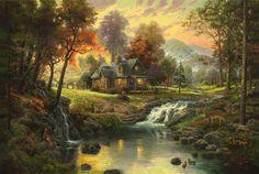 Painting & Co - Thomas Kinkade - Mountain Retreat (2005)