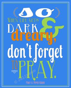 """Don't Forget to Pray"" INSTANT DOWNLOAD Printable 8x10 / 16x20 Religious Christian Mormon LDS Wall Art ""Did You Think to Pray?"" Hymn Boys Room Home Decor - would go perfectly on the wall next to the door, so you could see it as you are leaving the house for the day!"